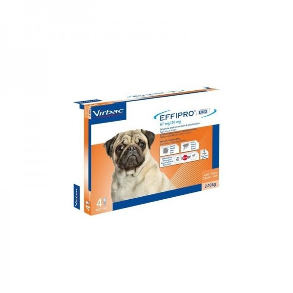 EFFIPRO DUO CANI 2-10 KG 4 PIPETTE SPOT-ON