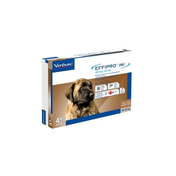 EFFIPRO DUO CANI 40-60 KG 4 PIPETTE SPOT-ON