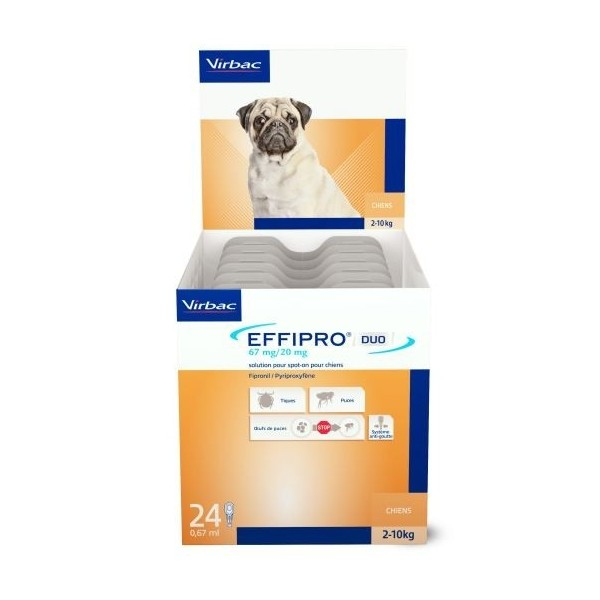 EFFIPRO DUO CANI 2-10 KG  24 PIPETTE SPOT-ON