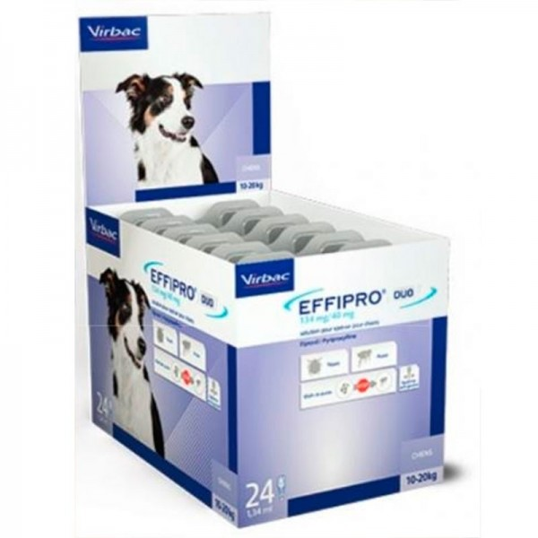 EFFIPRO DUO CANI 10-20 KG  24 PIPETTE SPOT-ON
