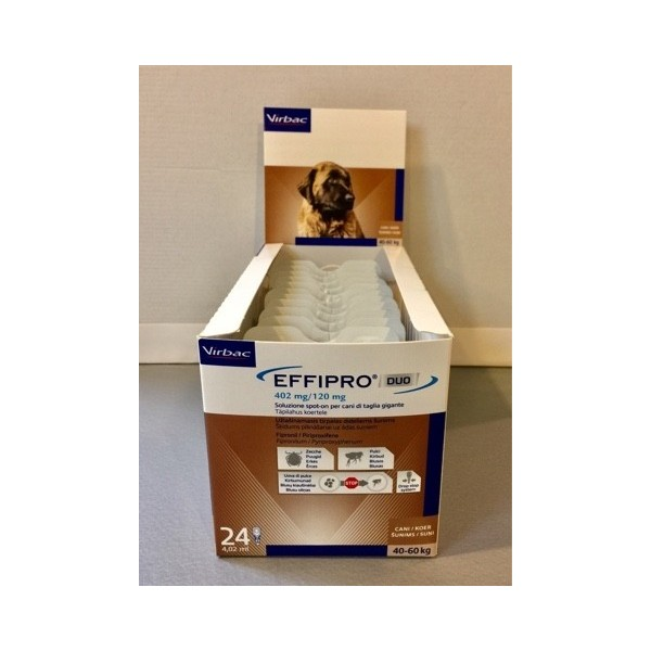 EFFIPRO DUO CANI 40-60 KG  24 PIPETTE SPOT-ON