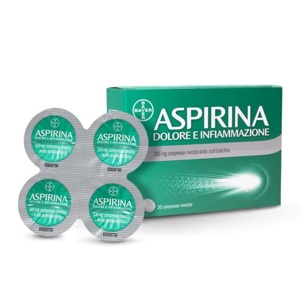 ASPIRINA DOLORE E INFIAMMAZIONE 20 COMPRESSE RIVESTITE 500 MG