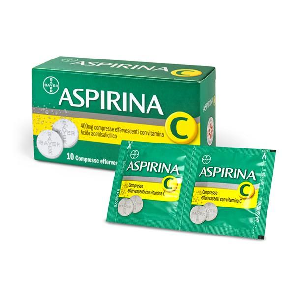 ASPIRINA C 10 COMPRESSE EFFERVESCENTI 400MG + 240 MG
