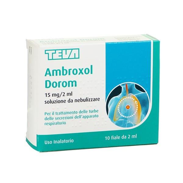 AMBROXOL DOROM 10 FIALE SOLUZIONE DA NEBULIZZARE 2ML/15MG
