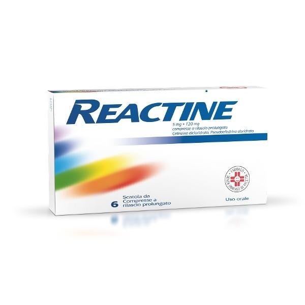 REACTINE 6 COMPRESSE 5MG + 120 MG