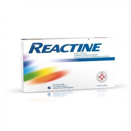 REACTINE 6 COMPRESSE 5MG + 120 MG