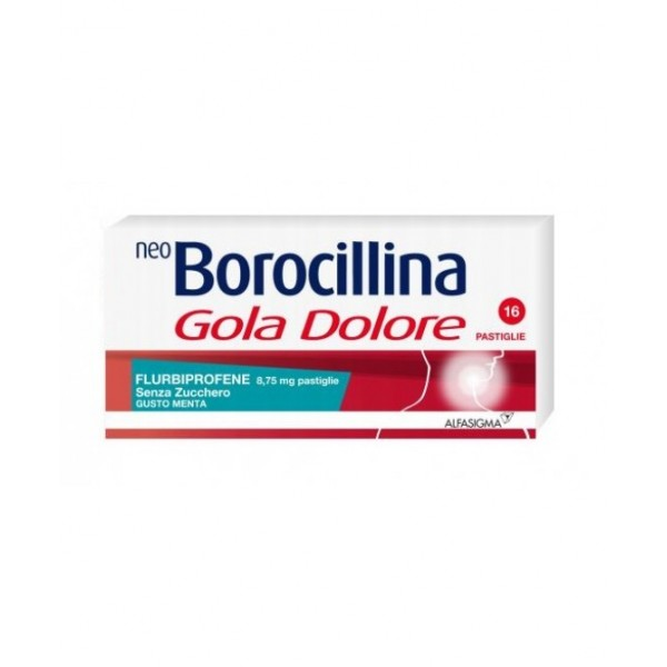 NEOBOROCILLINA GOLA DOLORE 16 PASTIGLIE MENTA SENZA ZUCCHERO
