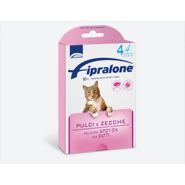 FIPRALONE SPOT-ON GATTI 4 PIPETTE 0,5 ML -  EX FIPROLINE