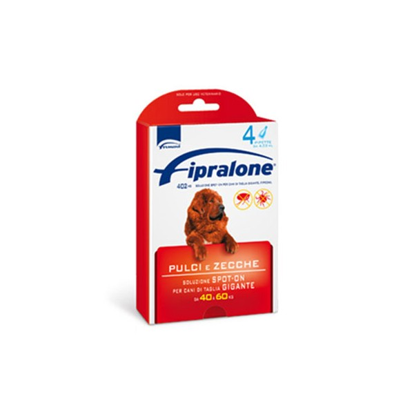 FIPRALONE SPOT ON  CANI 40-60KG  4 PIPETTE 402 MG   EX-FIPROLINE
