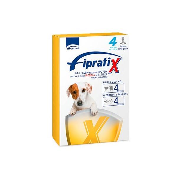 FIPRATIX CANI TAGLIA PICCOLA 4-10 KG 4 PIPETTE 1,1 ML