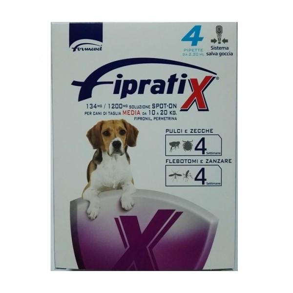 FIPRATIX CANI TAGLIA MEDIA 10-20 KG 4 PIPETTE 2,2 ML