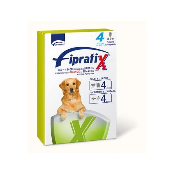 FIPRATIX CANI TAGLIA GRANDE 20-40 KG 4 PIPETTE 4,4 ML