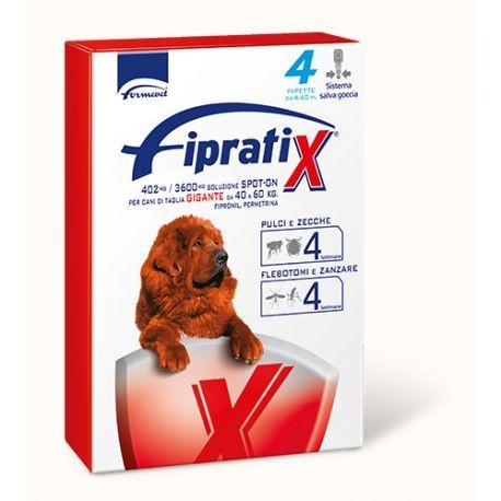 FIPRATIX CANI TAGLIA GIGANTE 40-60 KG 4 PIPETTE 6,6 ML