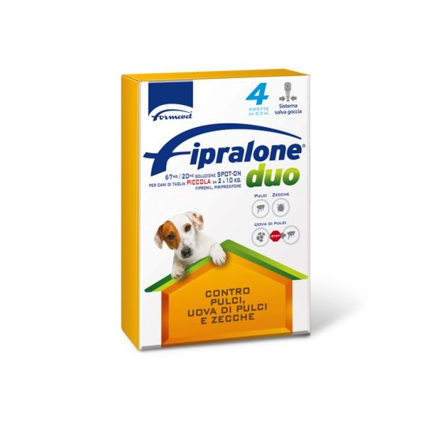 FIPRALONE DUO CANI 2-10KG 4 PIPETTE 0,67 ML 67MG/20MG