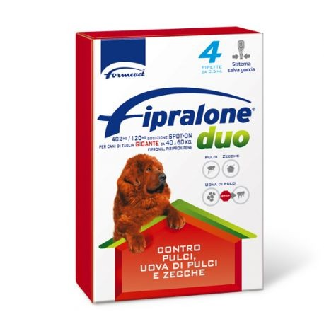 FIPRALONE DUO CANI 40-60KG 4 PIPETTE 4,02 ML 402MG/120MG