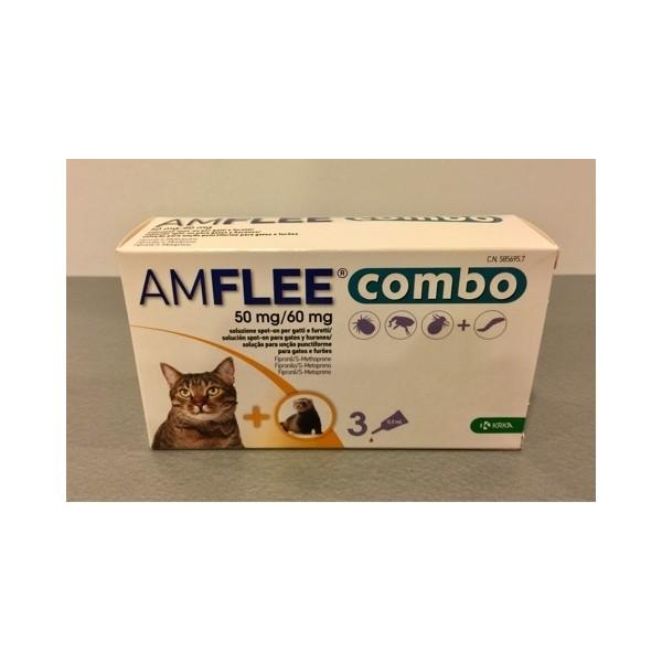 AMFLEE COMBO 50MG/60MG GATTI E FURETTI 3 PIPETTE SPOT-ON