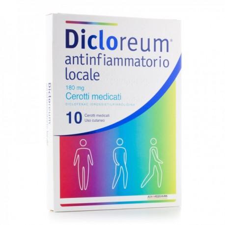 DICLOREUM 10 CEROTTI MEDICATI 180 MG - ANTINFIAMMATORIO LOCALE