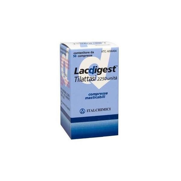 LACDIGEST 50 COMPRESSE MASTICABILI 2250 U
