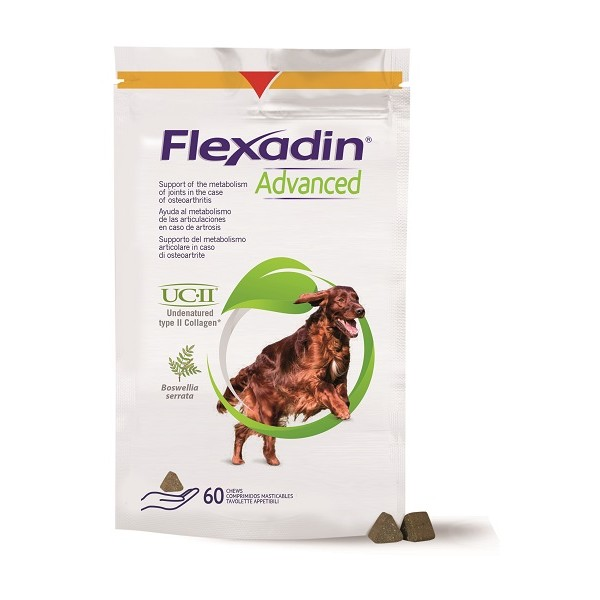 FLEXADIN ADVANCED CANI 60 TAVOLETTE APPETIBILI  - NUOVA FORMULA