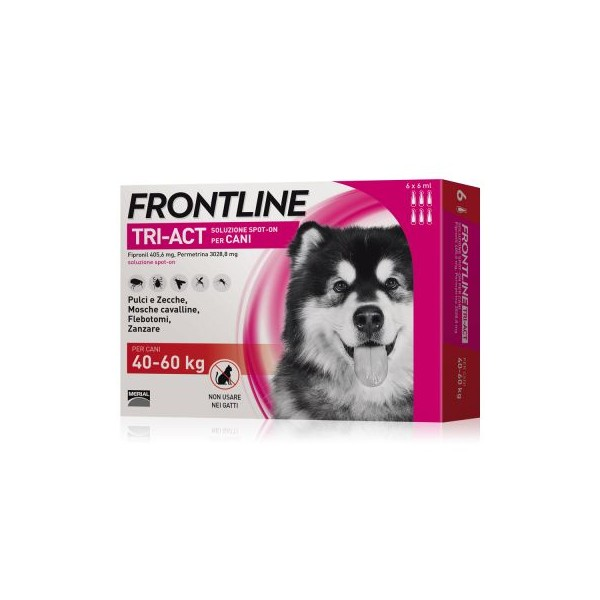 FRONTLINE TRIACT CANI 40-60 KG 6 PIPETTE 6 ML