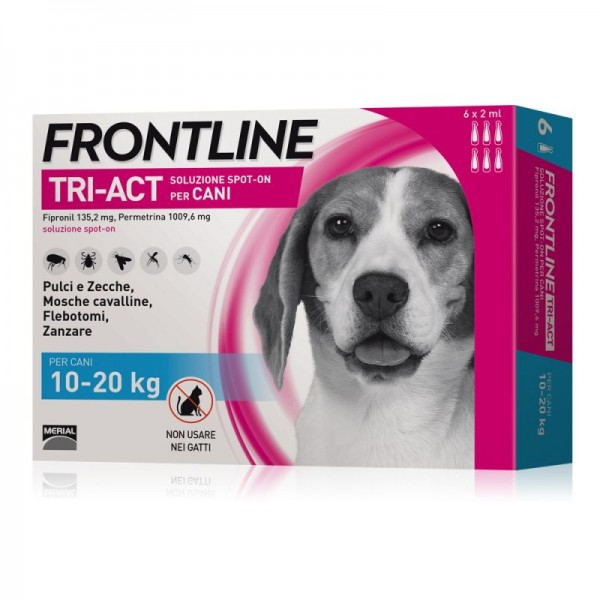 FRONTLINE TRIACT CANI 10-20 KG 6 PIPETTE 2 ML