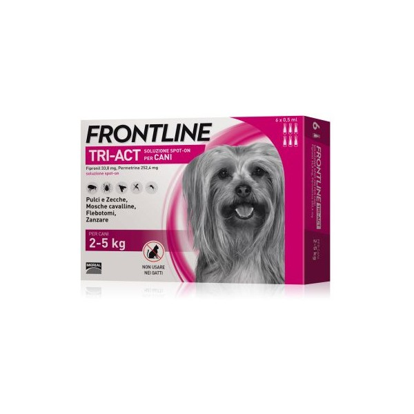 FRONTLINE TRIACT CANI 2-5 KG 6 PIPETTE 0,5 ML