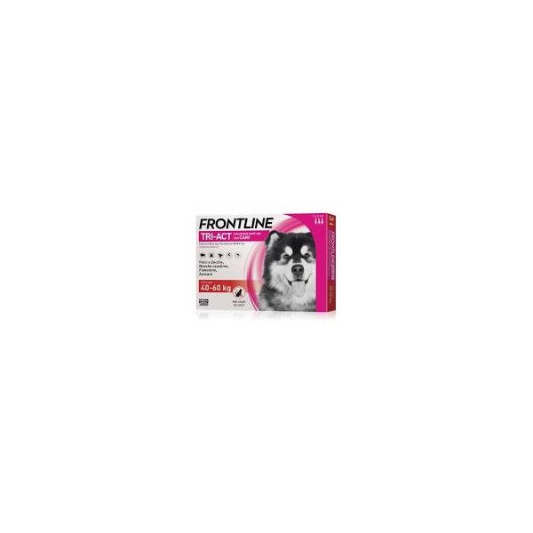 FRONTLINE TRIACT 3 PIPETTE 6 ML CANI 40-60 KG