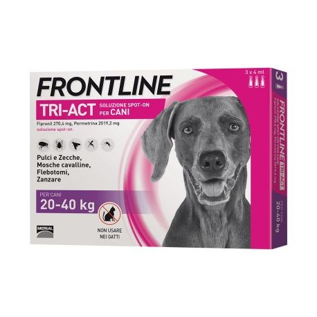 FRONTLINE TRIACT 3 PIPETTE 4 ML CANI 20-40 KG