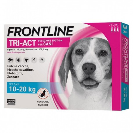 FRONTLINE TRIACT 3 PIPETTE 2 ML CANI 10-20 KG