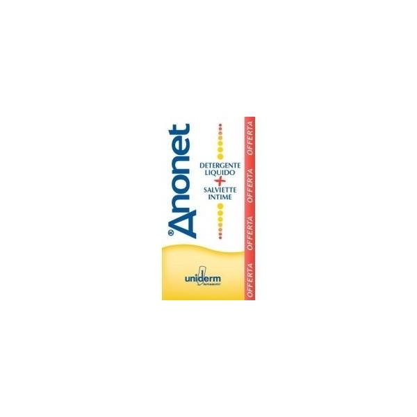 ANONET COFANETTO DETERGENTE LIQUIDO FLACONE 150 ML + 15 SALVIETT