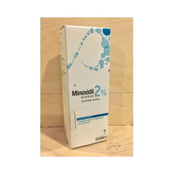 MINOXIDIL BIORGA SOLUZIONE CUTANEA 2% 1 FLACONE 60 ML