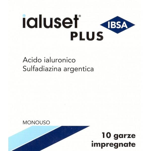 IALUSET PLUS 10 GARZE IMPREGNATE ACIDO IALURONICO