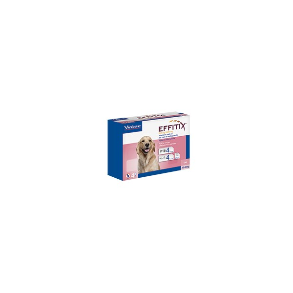 EFFITIX SPOT ON 4 PIPETTE 4,4 ML CANI 20-40 KG