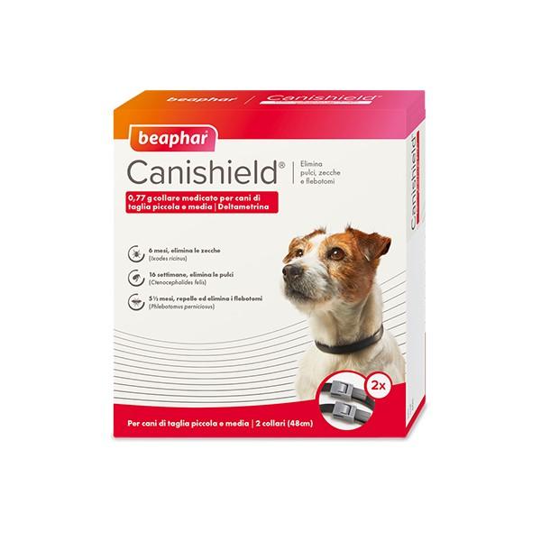 BEAPHAR CANISHIELD COLLARE CANI PICCOLI-MEDI 48 CM  2 PZ