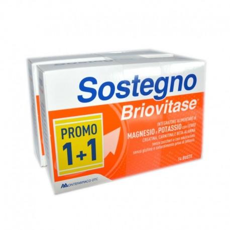 BRIOVITASE SOSTEGNO BIPACK GUSTO AGRUMI  - 2 CONFEZIONI X 14 BUSTINE
