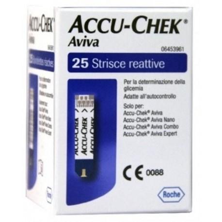 ACCU-CHEK  AVIVA 25 STRISCIE