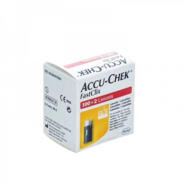 ACCU-CHEK FASTCLI 100+2 LANCETTE